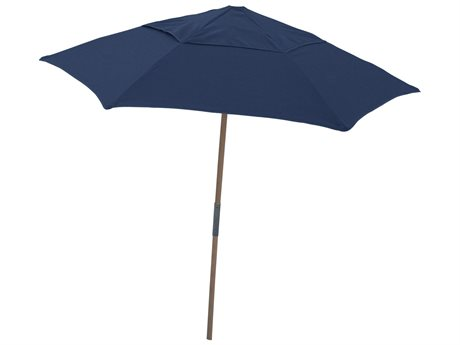 Fiberbuilt Umbrellas Beach 7.5' Push Up Lift No Tilt Patio Umbrella