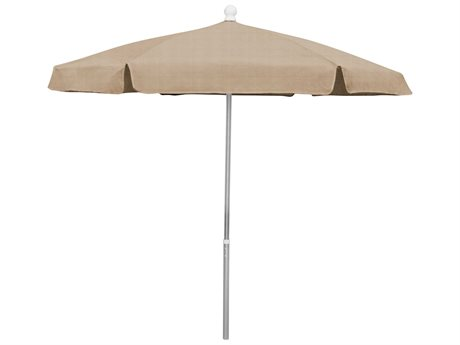 Fiberbuilt Umbrellas Beach 7.5' Push Up Lift No Tilt Umbrella