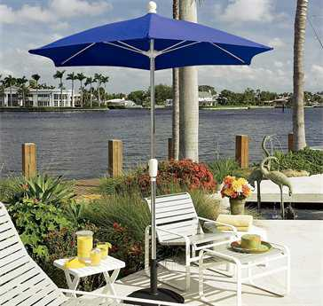 fiberbuilt home 75 hexagon aluminum umbrella - Patio Table With Umbrella