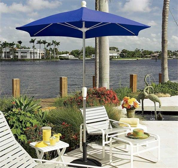 Fiberbuilt Home 7.5' Hexagon Aluminum Umbrella PatioLiving