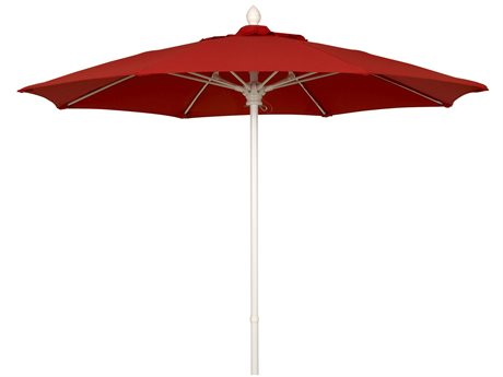Fiberbuilt Umbrellas Market 7.5' Push Button No Tilt Patio Umbrella