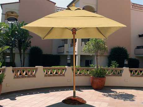 Fiberbuilt Augusta FiberTeak 7.5' Square Pulley Wood Umbrella