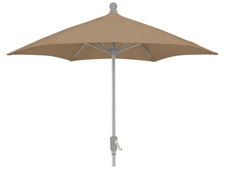 Fiberbuilt Umbrellas Terrace QUICK SHIP 7.5 Feet Wide Crank Lift Push Button Tilt Umbrella