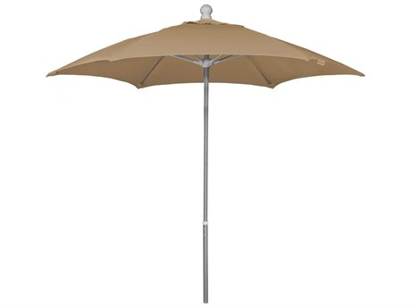 Fiberbuilt Umbrellas Home 7.5' Push Up Lift No Tilt Patio Umbrella
