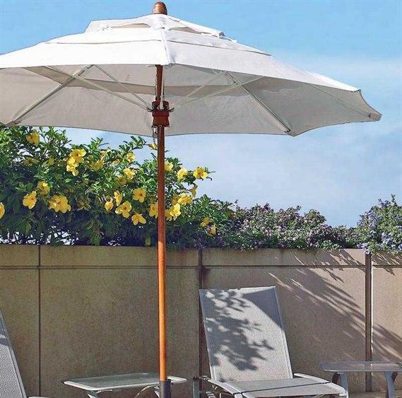Fiberbuilt Bridgewater FiberTeak 8' Octagon Wood Umbrella PatioLiving