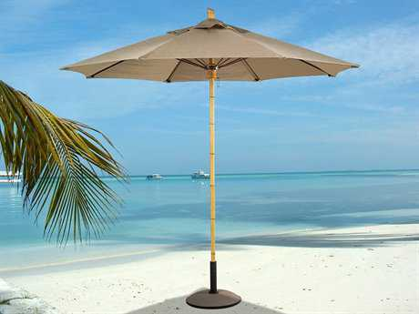 Fiberbuilt Bambusa FiberTeak 8' Octagon Wood Umbrella