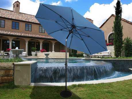 Fiberbuilt Market Crank 9' Octagon Collar Tilt Aluminum Umbrella
