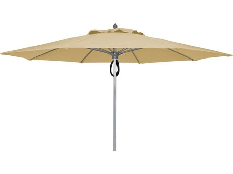Fiberbuilt Umbrellas Prestige Riva 9' Push Up Lift No Tilt Patio Umbrella