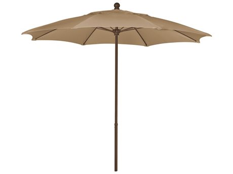 Fiberbuilt Umbrellas Home 9' Push Up Lift No Tilt Patio Umbrella