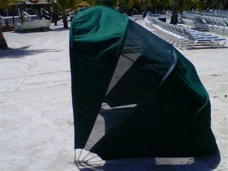 Fiberbuilt Umbrellas Cabana with Mesh Back