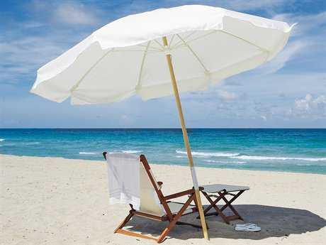 Fiberbuilt Beach 7.5' Octagon Wood Umbrella FBBEACH