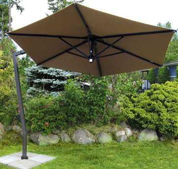 FIM C-Series Aluminum 10.5' Hexagon Cantilever Umbrella PatioLiving