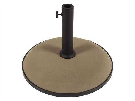 Fiberbuilt Concrete Champagne Bronze 19'' 55 Pound Umbrella Base PatioLiving