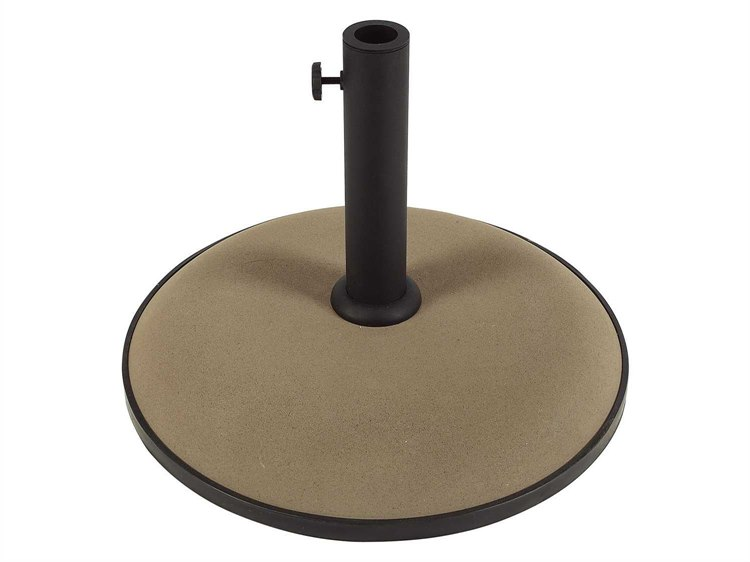 Fiberbuilt Concrete Champagne Bronze 19'' 55 Pound Umbrella Base