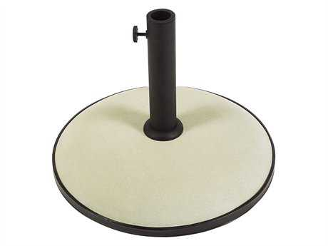 Fiberbuilt Concrete White 19'' 55 Pound Umbrella Base