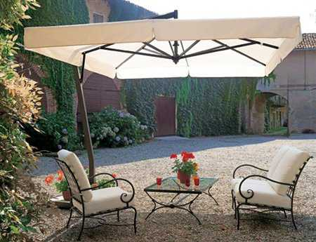 FIM P-Series Aluminum 9.5' Square Cantilever Umbrella PatioLiving