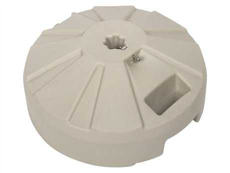 Fiberbuilt Plastic Beige 16'' 50 Pound Fillable Umbrella Base PatioLiving