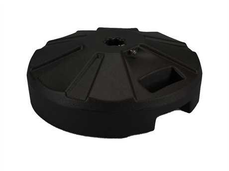 Fiberbuilt Plastic Black 16'' 50 Pound Fillable Umbrella Base PatioLiving
