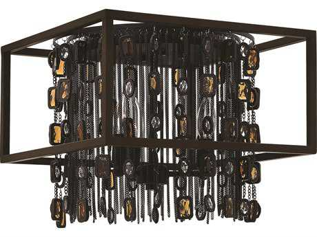 Fredrick Ramond Mercato Anchor Bronze Three-Light Flush Mount Light