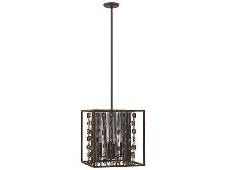 Fredrick Ramond Mercato Anchor Bronze Four-Light Pendant Light