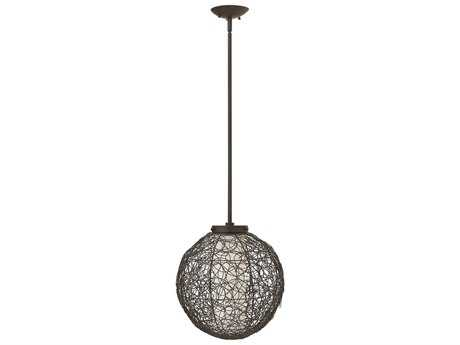 Fredrick Ramond Spago Vintage Bronze Pendant Light