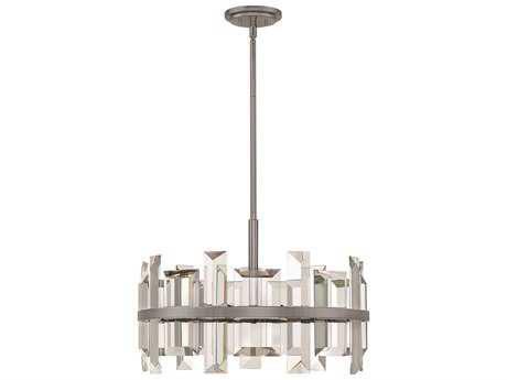 Fredrick Ramond Odette Gunmetal Six-Light 24'' Wide Pendant Light