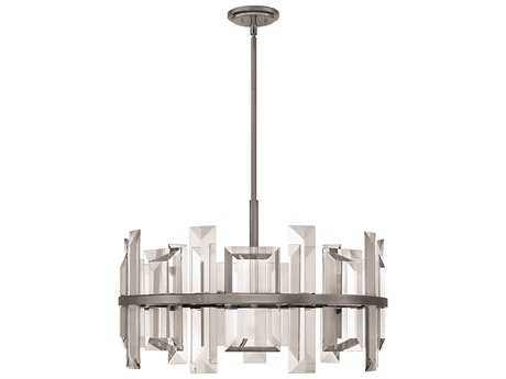 Fredrick Ramond Odette Gunmetal Nine-Light 30'' Wide Pendant Light