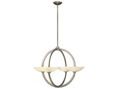 Fredrick Ramond Method Brushed Nickel Eight-Light 34 Wide Chandelier