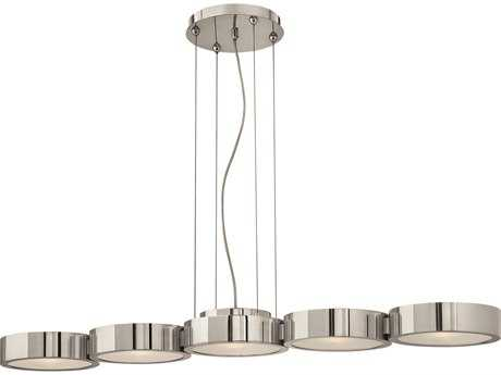 Fredrick Ramond Broadway Polished Aluminum Five-Light Island Light