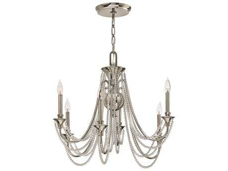 Fredrick Ramond Cortina Polished Nickel Six-Light 28'' Wide Chandelier