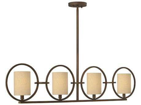 Fredrick Ramond Pandora Brushed Cinnamon Four-Light Island Light