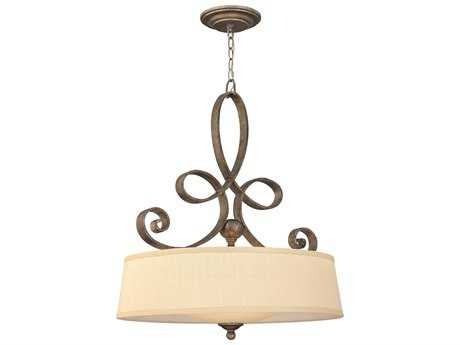 Fredrick Ramond Monterey Brushed Merlot Four-Light Pendant Light
