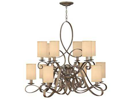 Fredrick Ramond Monterey Brushed Merlot 12-Light 44 Wide Chandelier