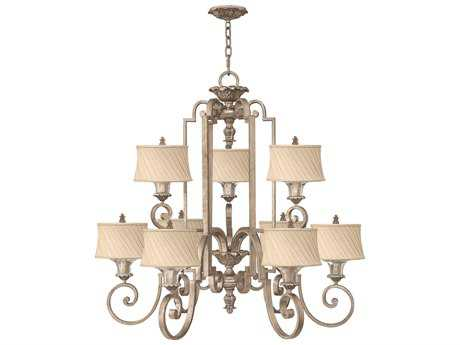 Fredrick Ramond Kingsley Silver Leaf Nine-Light 45 Wide Chandelier
