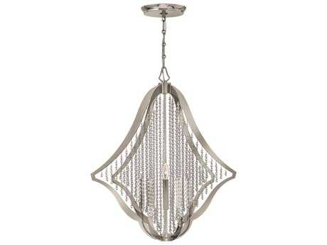 Fredrick Ramond Bijou Polished Nickel Five-Light 28 Wide Chandelier
