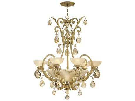 Fredrick Ramond Barcelona Silver Leaf Six-Light 38 Wide Grand Chandelier