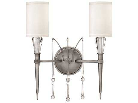 Fredrick Ramond Bentley Antique Nickel Two-Light Wall Sconce