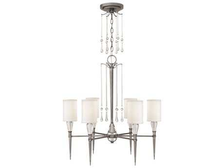 Fredrick Ramond Bentley Antique Nickel Six-Light 27 Wide Chandelier