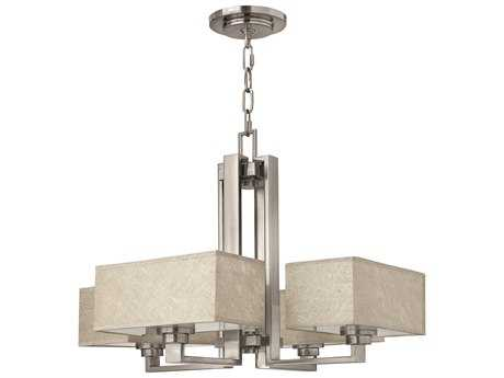 Fredrick Ramond Quattro Brushed Nickel Four-Light 26 Wide Chandelier