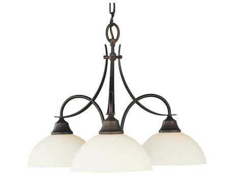 Feiss Boulevard Oil Rubbed Bronze 24'' Wide Three-Light Mini-Chandelier