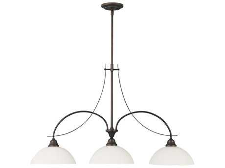Feiss Boulevard Oil Rubbed Bronze Three-Light Island Light