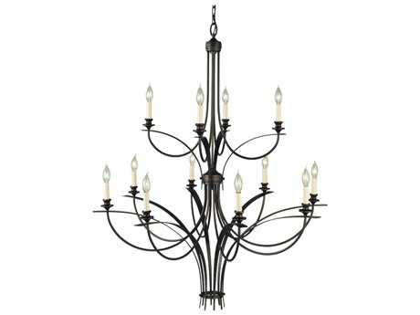 Feiss Boulevard Oil Rubbed Bronze 41.5'' Wide 12-Light Grand Chandelier