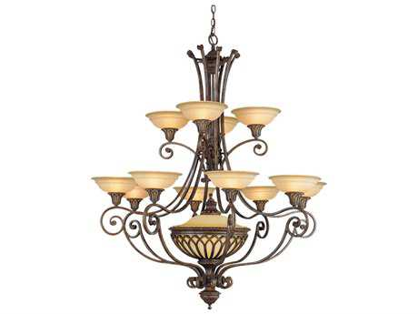 Feiss Stirling Castle British Bronze 47.25'' Wide 13-Light Grand Chandelier