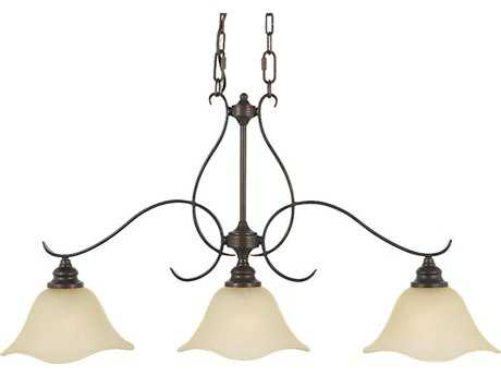 Feiss Morningside Grecian Bronze Three-Light Island Light