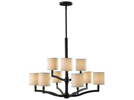 Feiss Stelle Oil Rubbed Bronze 31'' Wide Nine-Light Chandelier