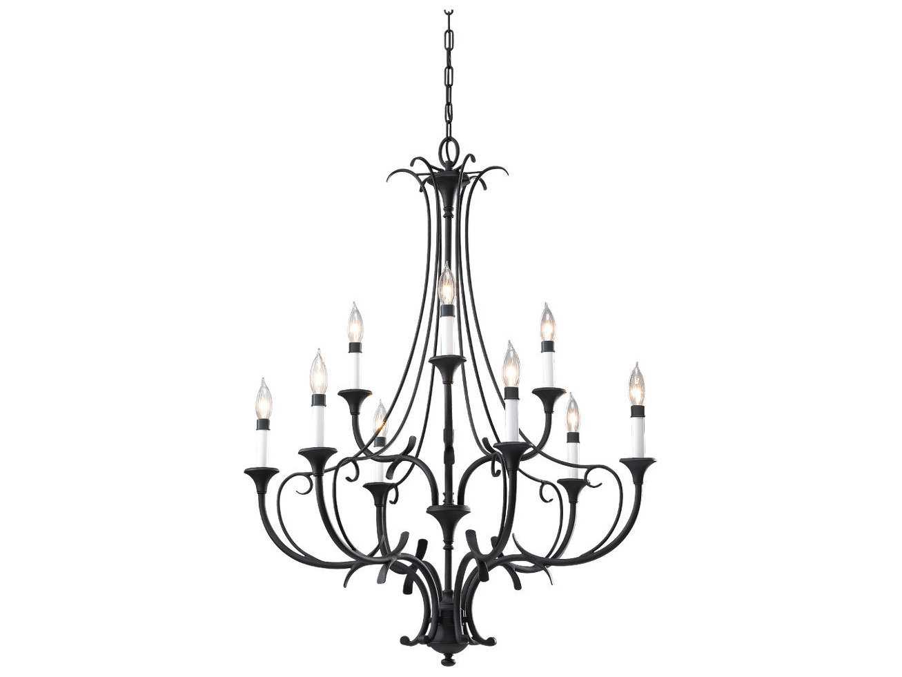 Feiss peyton black 31 wide nine light chandelier f2534 6 3bk feiss peyton black 31 wide nine light chandelier arubaitofo Image collections