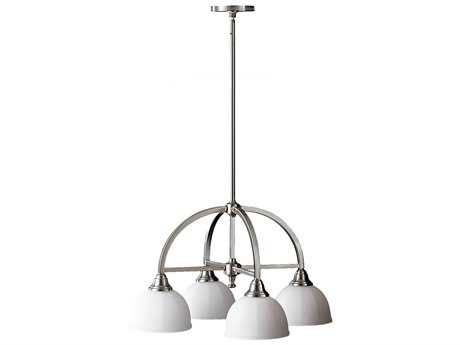 Feiss Perry Brushed Steel 24.25'' Wide Four-Light Mini-Chandelier