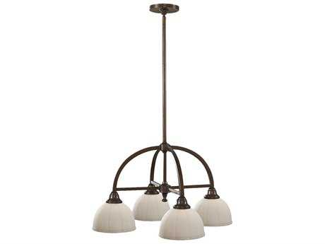 Feiss Perry Heritage Bronze 24.25'' Wide Four-Light Mini-Chandelier