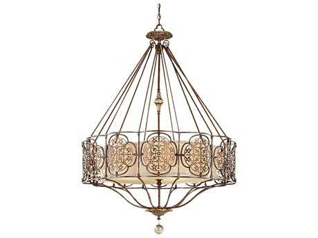 Feiss Marcella British Bronze & Oxidized Bronze 32.25'' Wide Four-Light Chandelier