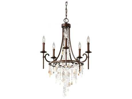 Feiss Cascade Heritage Bronze 21'' Wide Five-Light Chandelier